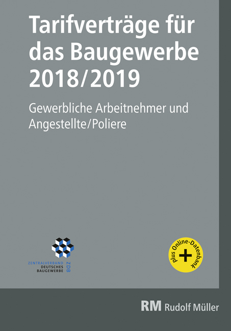 Cover-Bild Tarifverträge für das Baugewerbe 2018/2019
