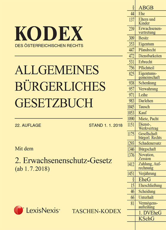 Cover-Bild Taschen-Kodex ABGB 2018