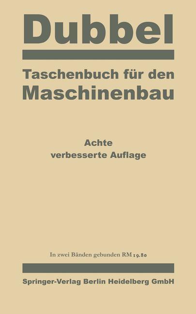 Cover-Bild Taschenbuch für den Maschinenbau