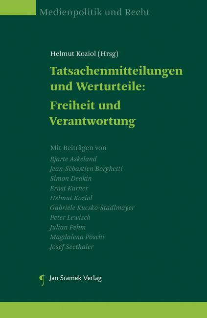 Cover-Bild Tatsachenmitteilungen und Werturteile: Freiheit und Verantwortung