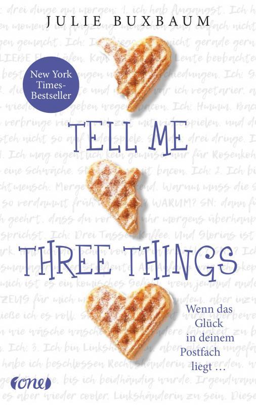 Cover-Bild Tell me three things