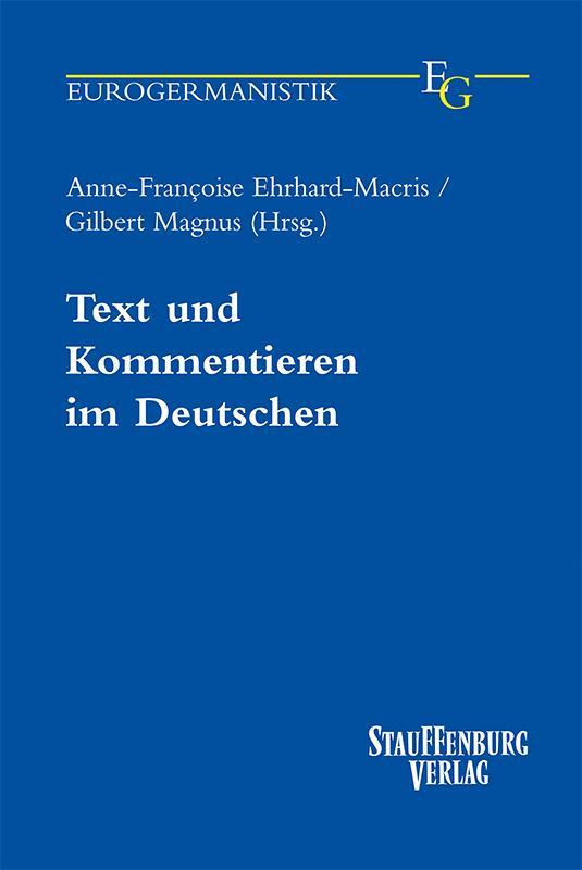 Cover-Bild Text und Kommentieren im Deutschen