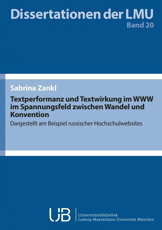Cover-Bild Textperformanz und Textwirkung im WWW im Spannungsfeld zwischen Wandel und Konvention