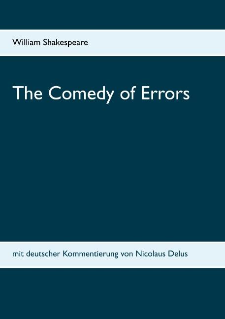 Cover-Bild The Comedy of Errors