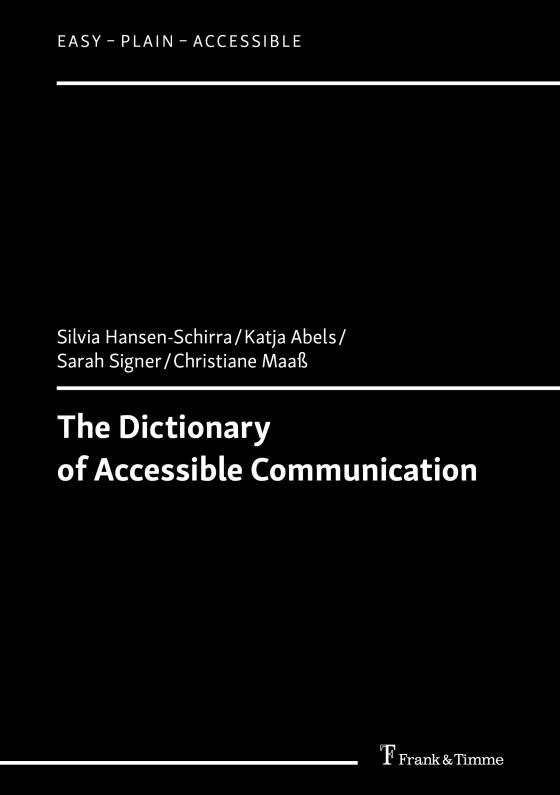 Cover-Bild The Dictionary of Accessible Communication