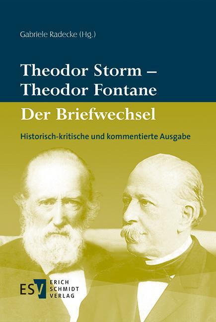 Cover-Bild Theodor Storm – Theodor Fontane Der Briefwechsel
