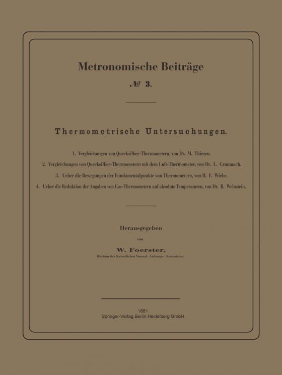 Cover-Bild Thermometrische Untersuchungen