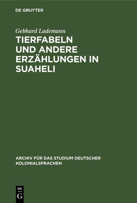 Cover-Bild Tierfabeln und andere Erzählungen in Suaheli