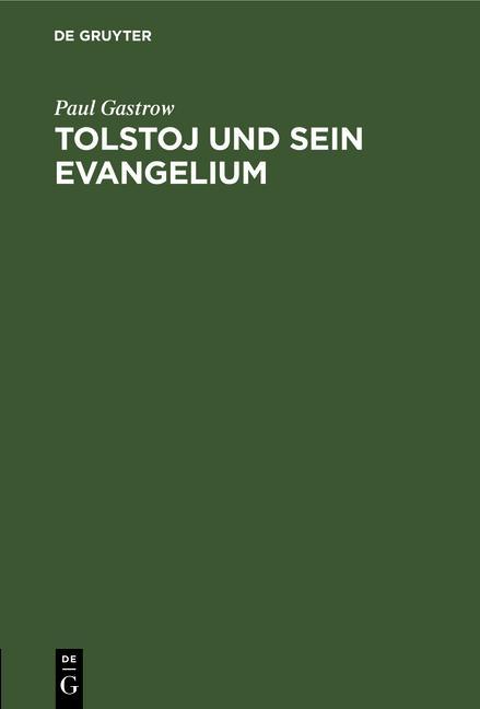 Cover-Bild Tolstoj und sein Evangelium