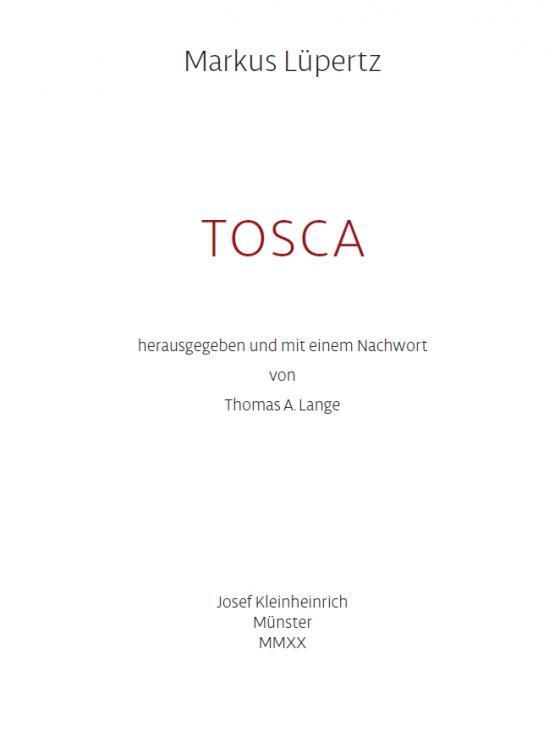 Cover-Bild Tosca