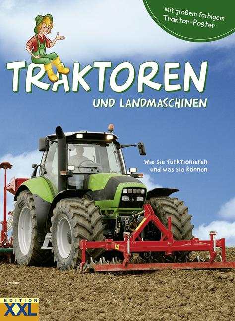 Cover-Bild Traktoren und Landmaschinen - mit großem farbigem Traktor-Poster
