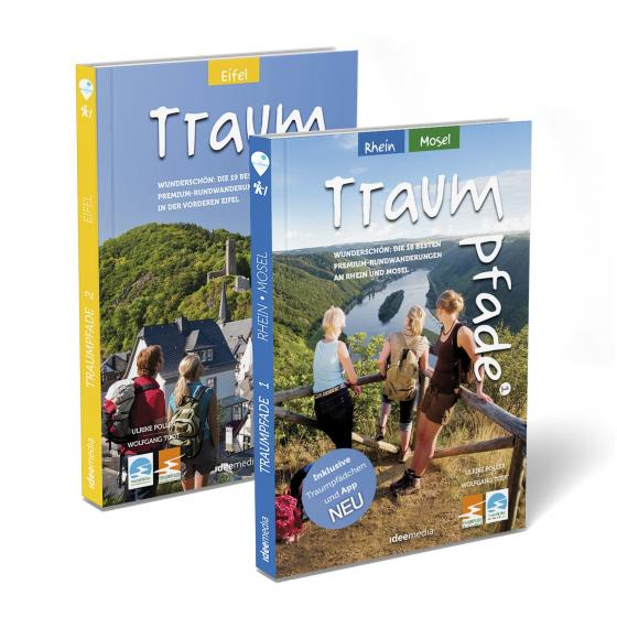 Cover-Bild Traumpfade Geschenk-Set. Zwei Bände mit 27 Top-Touren an Rhein, Mosel und in der Eifel. Detail-Karten, GPS-Daten und Höhenprofile.