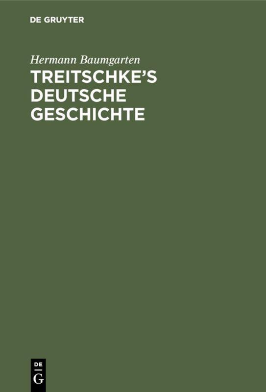 Cover-Bild Treitschke's Deutsche Geschichte