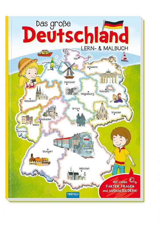 Cover-Bild Trötsch Malbuch Mein großes Deutschland Lern und Malbuch