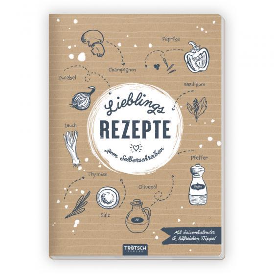 Cover-Bild Trötsch Rezeptbuch Lieblingsrezepte zum Selberschreiben
