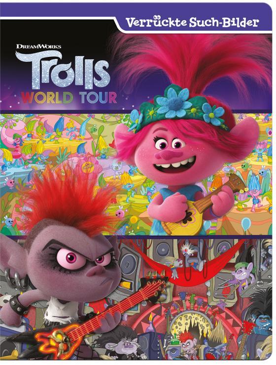 Cover-Bild Trolls World Tour- Verrückte Suchbilder - Wimmelbuch mit tollen Lernspielen und Aufgaben - Pappbilderbuch mit 18 Seiten für Kinder ab 18 Monaten