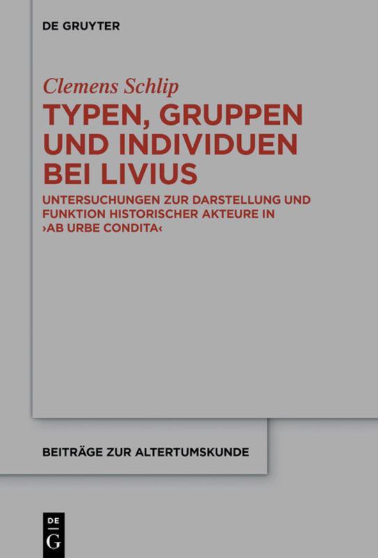 Cover-Bild Typen, Gruppen und Individuen bei Livius