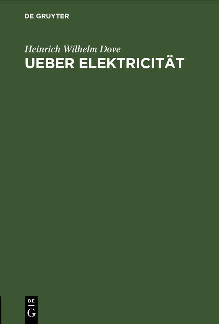 Cover-Bild Ueber Elektricität