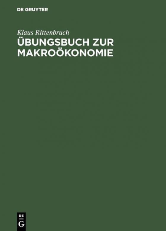 Cover-Bild Übungsbuch zur Makroökonomie