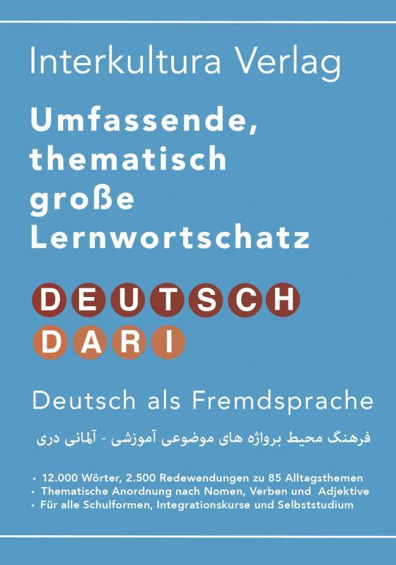 Cover-Bild Umfassender thematischer Großlernwortschatz - Deutsch-Dari