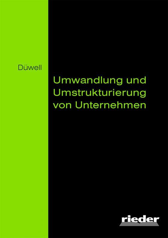 Cover-Bild Umwandlung und Umstrukturierung von Unternehmen