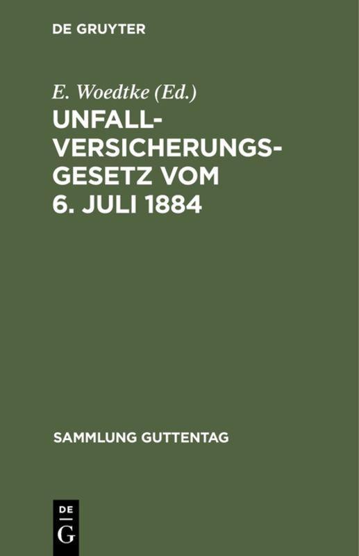 Cover-Bild Unfallversicherungsgesetz vom 6. Juli 1884