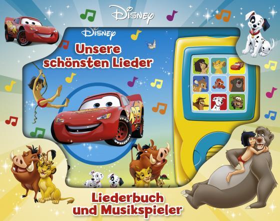 Cover-Bild Unsere schönsten Lieder - Liederbuch und Musikspieler - Disney-Pappbilderbuch mit 15 beliebten Kinderliedern