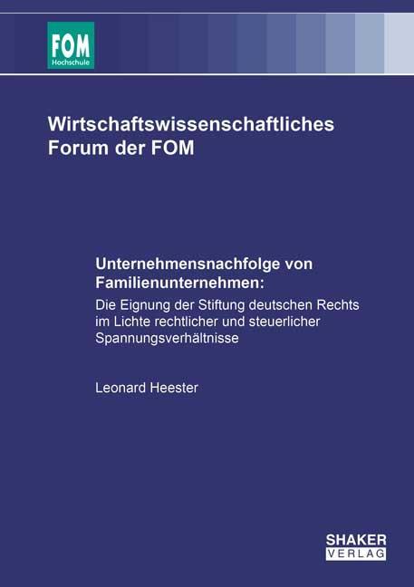 Cover-Bild Unternehmensnachfolge von Familienunternehmen: