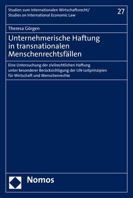 Cover-Bild Unternehmerische Haftung in transnationalen Menschenrechtsfällen