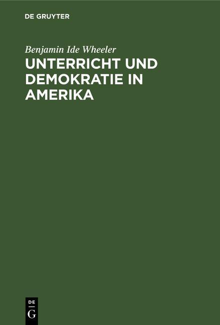 Cover-Bild Unterricht und Demokratie in Amerika