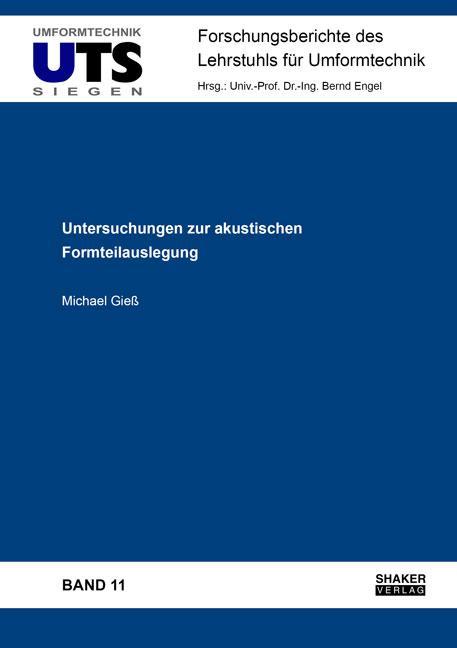Cover-Bild Untersuchungen zur akustischen Formteilauslegung