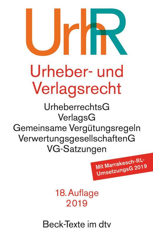 Cover-Bild Urheber- und Verlagsrecht