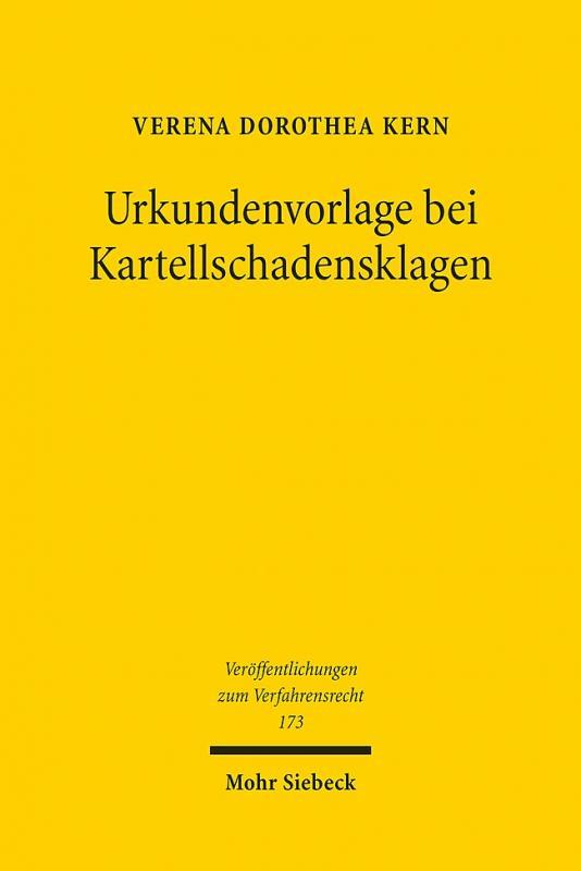 Cover-Bild Urkundenvorlage bei Kartellschadensklagen