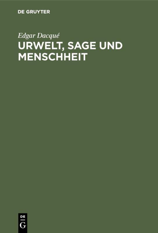 Cover-Bild Urwelt, Sage und Menschheit