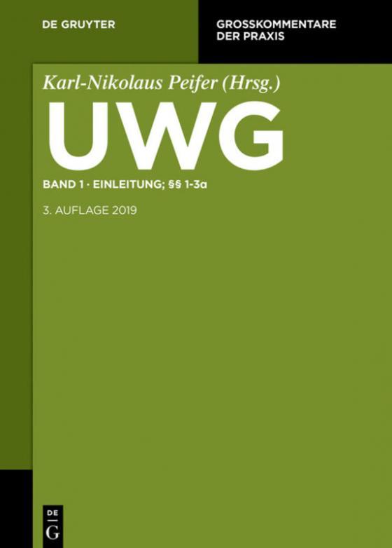 Cover-Bild UWG / Einleitung; §§ 1-3