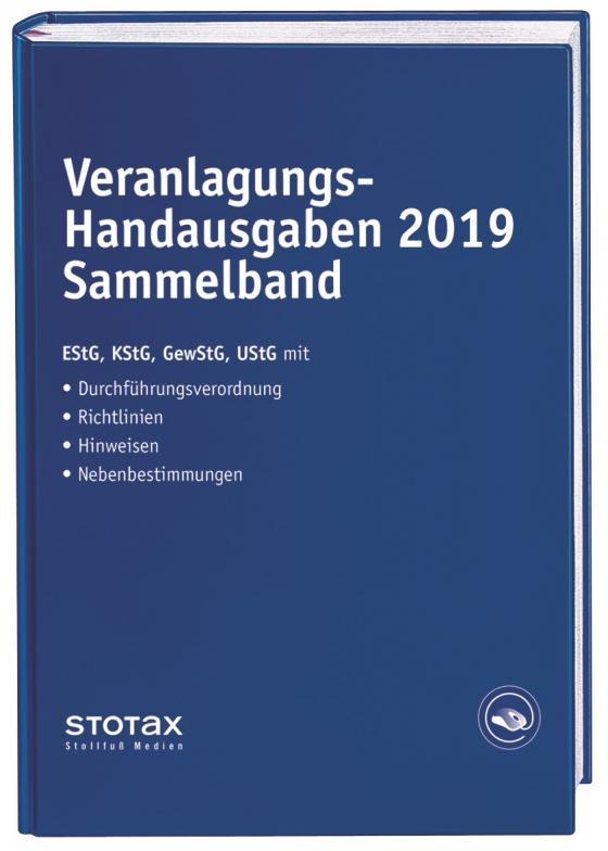 Cover-Bild Veranlagungs-Handausgaben 2019 Sammelband
