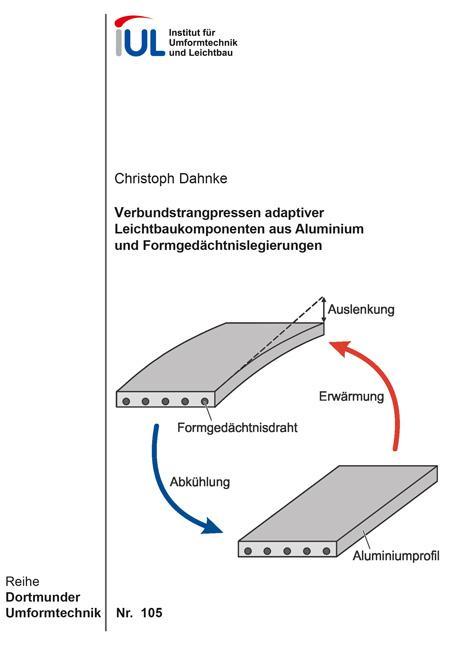 Cover-Bild Verbundstrangpressen adaptiver Leichtbaukomponenten aus Aluminium und Formgedächtnislegierungen