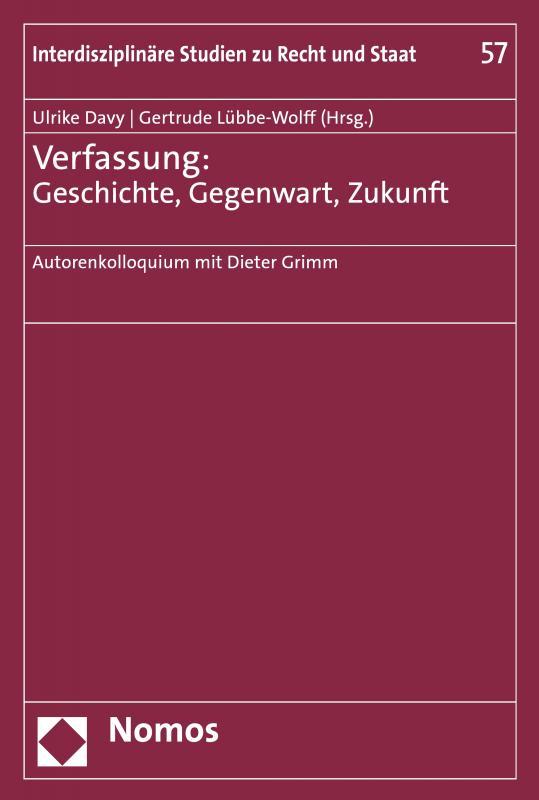 Cover-Bild Verfassung: Geschichte, Gegenwart, Zukunft