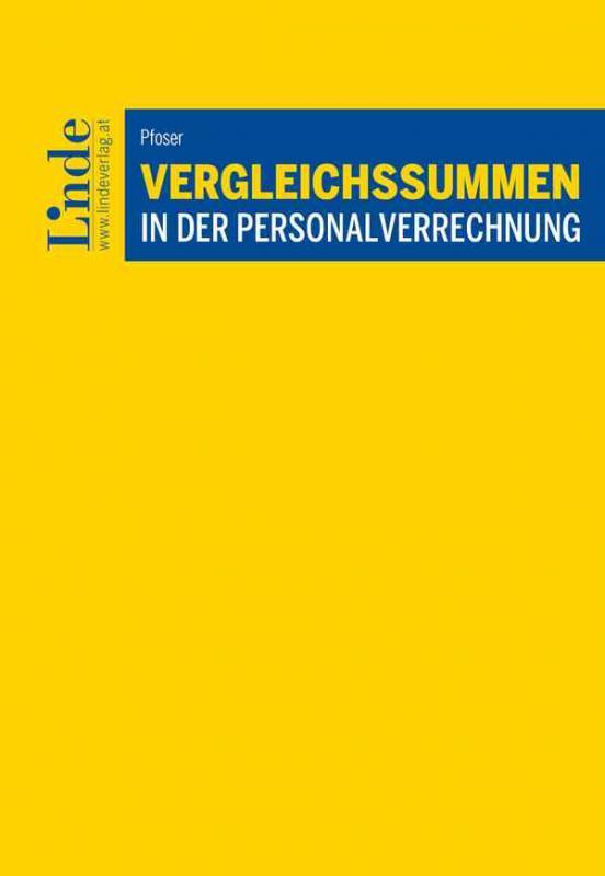 Cover-Bild Vergleichssummen in der Personalverrechnung