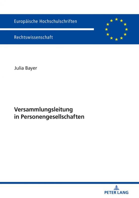 Cover-Bild Versammlungsleitung in Personengesellschaften