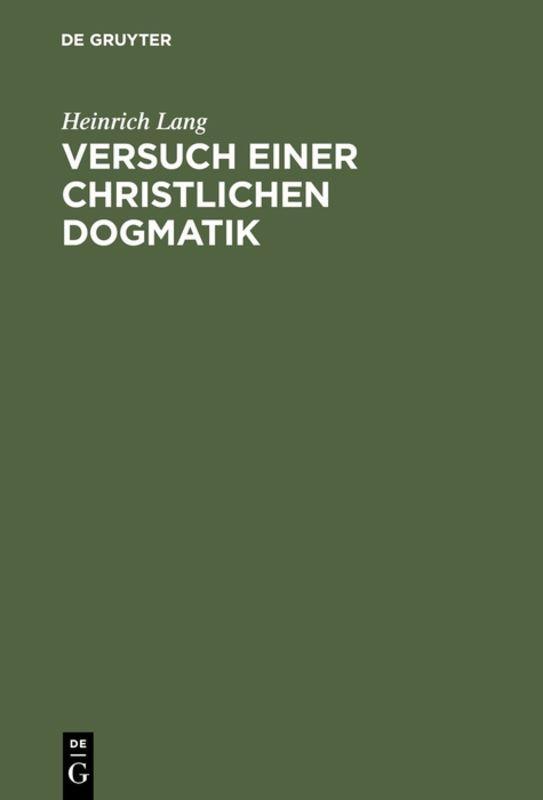 Cover-Bild Versuch einer christlichen Dogmatik