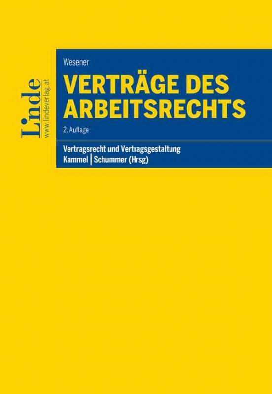 Cover-Bild Verträge des Arbeitsrechts