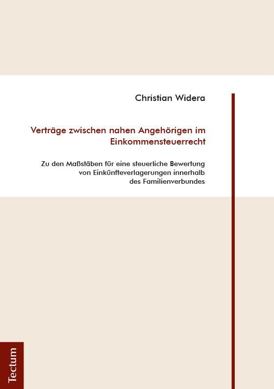 Cover-Bild Verträge zwischen nahen Angehörigen im Einkommensteuerrecht