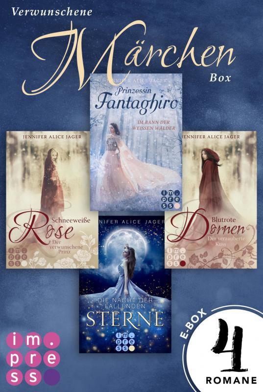 Cover-Bild Verwunschene Märchen-Box: Vier Märchen-Romane von Jennifer Alice Jager in einer E-Box!