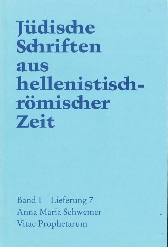 Cover-Bild Vitae Prophetarum