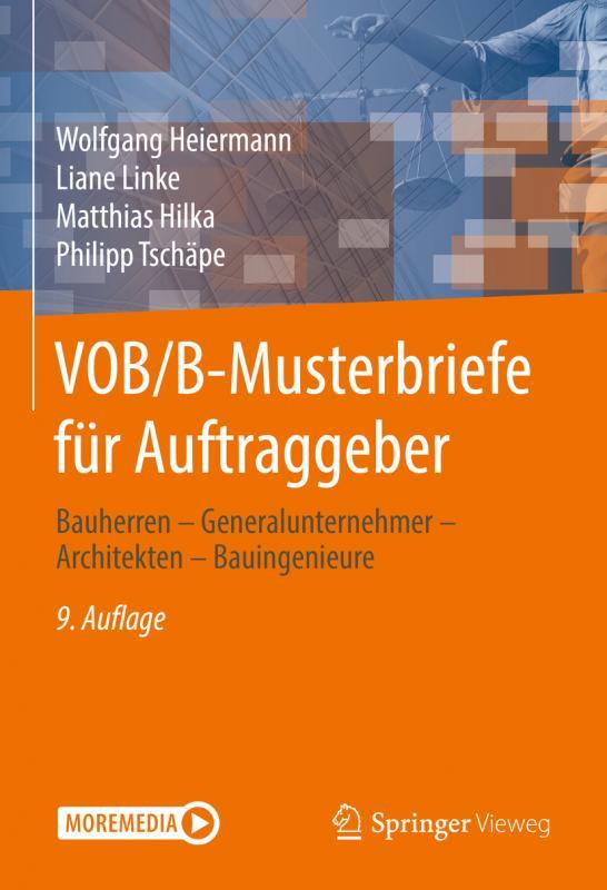 Cover-Bild VOB/B-Musterbriefe für Auftraggeber
