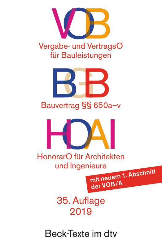 Cover-Bild VOB BGB HOAI