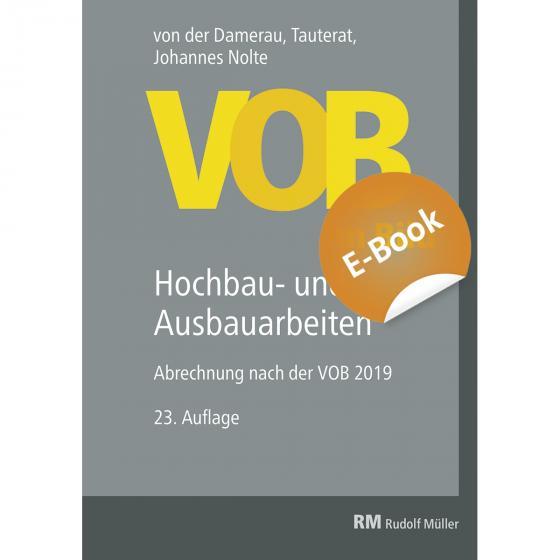 Cover-Bild VOB im Bild – Hochbau- und Ausbauarbeiten - E-Book (PDF)