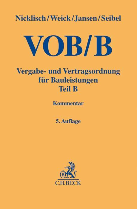 Cover-Bild VOB Teil B