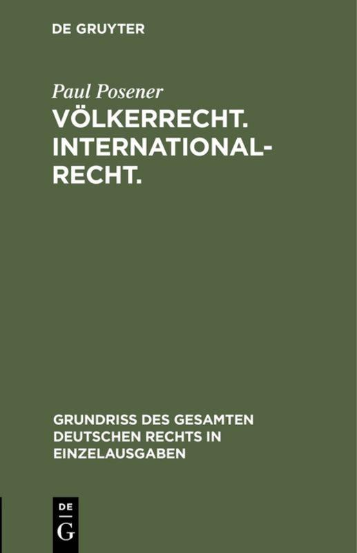 Cover-Bild Völkerrecht. Internationalrecht.